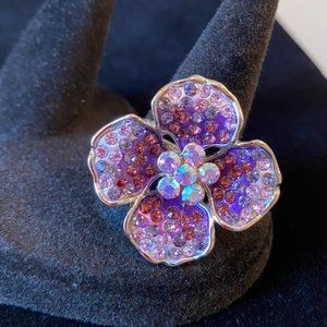 Guess Flower Cocktail Ring (Size 8) 🌸